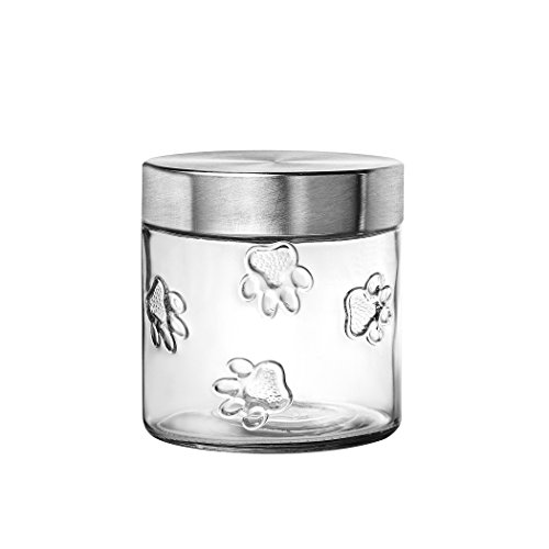 Small Dog Treat Jar (Amici Pet A7CA119R Maxwell Collection Canister, Clear)