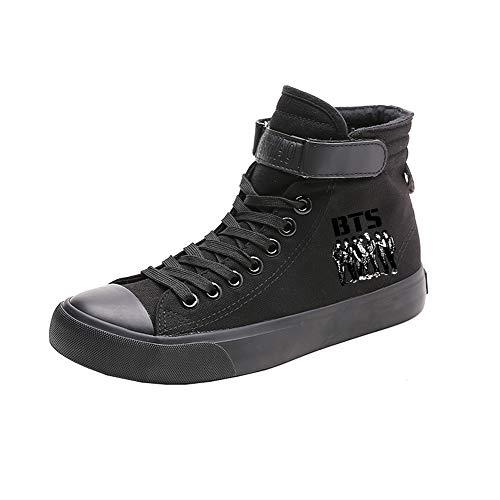 Passeggio Popolare Comoda Sneakers Alte Da Tela Amante Basse Di Scarpe Bts Black16 Primavera TvZqPP