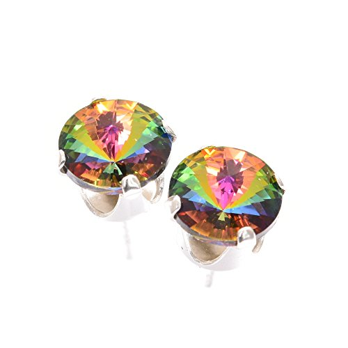 925 Sterling-silver stud earrings expertly made with Enchanted Forest crystal from SWAROVSKI - Forest Jewelry