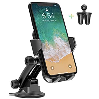 AIKELA Car Phone Mount, 3 in 1 Cell Phone Holder for Car Dashboard Windshield Air Vent with Washable Strong Sticky Gel…