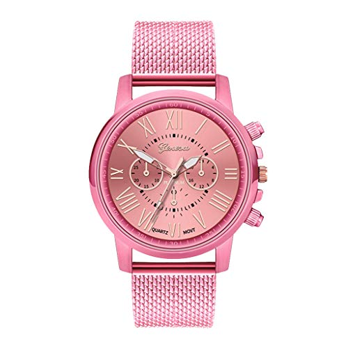 Orcbee  _Luxury Watches Quartz Watch Stainless Steel Dial Casual Bracele Watch (Pink) (Pink Stainless Dial)