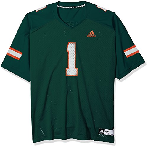 Miami Hurricanes Jerseys at Amazon.com. Amazon.com. adidas NCAA Miami  Hurricanes Adult Men NCAA Replica Football ... 77c5e281e