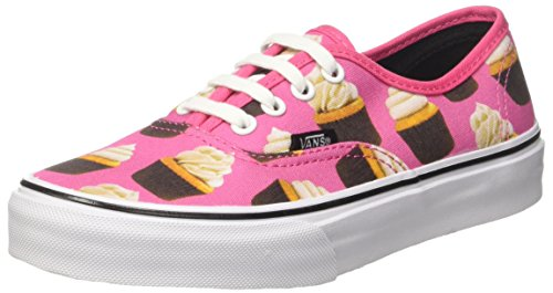 Vans Kids Hot Pink/Cupcakes Authentic Canvas Trainers-UK 11 Kids]()