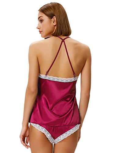 Shorty i Suit estate Red con pigiameria sexy Donne Notte due 2 Zexxxy bicchierini pezzi x0wApPq44a