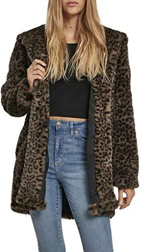 Urban Classics Ladies Leo Teddy Coat dames mantel