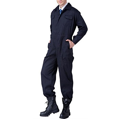 HUANGYUAN Long Sleeved Uniform Service Suit Ship Employees Wear Engineering Suit and Auto Repair Work Suit Dark Blue-L