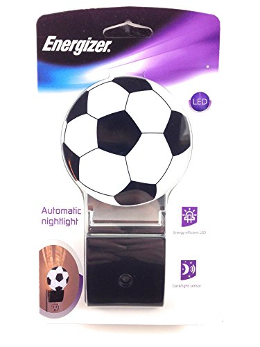 LED Soccer Night Light- Plug In for Safety, Soothing, Calming Nights Good for Kids & Adults Automatic -