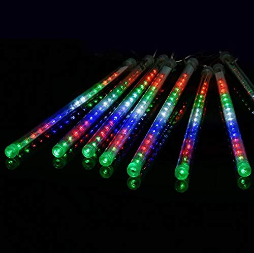 Miniao Upgrade Meteor Lights, 20 inches 10 Tube 480 LEDs Meteor Shower Rain Lights Waterproof Decoration Light Falling String Lights for Wedding Party Christmas Lights (Multicolor)