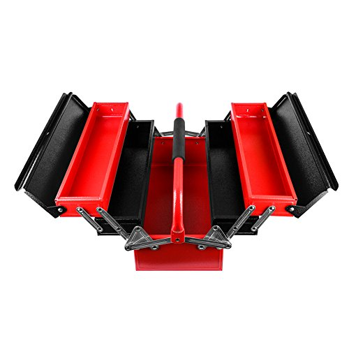 Cantilever Steel Toolbox Multi-Purpose Folding Metal Tool Box Organizer Box