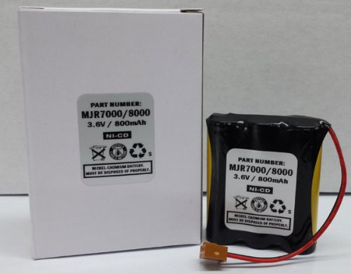 Ni-Cad Battery Replacement for Amano MJR-7000 MJR-8000 Time Clock IR-430850 Compatible Amano Compatible