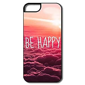 Alice7 Be Happy Case For Iphone 5,Funny Quotes Iphone 5 Case by lolosakes