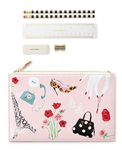 Kate Spade Pencil Pouch, Paris, Pink (176756)