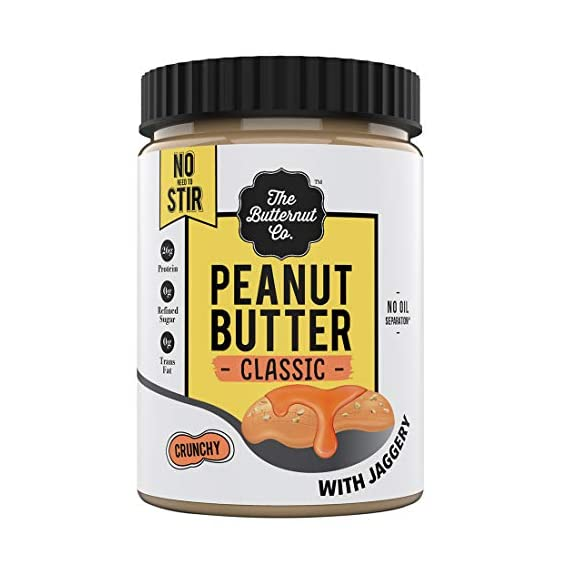 The Butternut Co. Peanut Butter Classic with Jaggery, Crunchy 1KG (No Oil Separation^, Vegan, High Protein, No Stir)