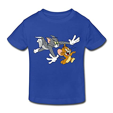 Age 2-6 Kids Toddler Tom And Jerry Show Logo 5-6 Toddler Little Boy's And Girl's T-Shirts RoyalBlue (Tom And Jerry Tee Shirts)