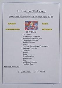 math worksheet : 100 eleven plus maths practice worksheets for 11 exam  : 11 Maths Worksheets