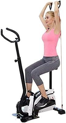 DX Sunny Health & Fitness Stepper con Manillar y Asiento ergonómico Comfort Step Machine Escalera Fitness Cardio Training Movimiento silencioso: Amazon.es: Hogar