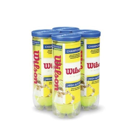 Yellow 4-Pack Wilson Championship High Altitude Tennis Ball