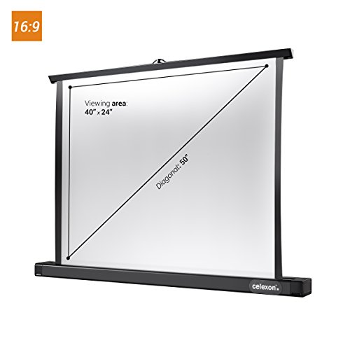 Mini Portable Projector Screen : Celexon quot professional mini portable tabletop projector