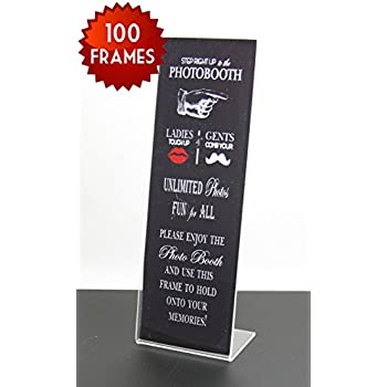 100 slanted photo booth frames with inserts for 2x6 photo strips
