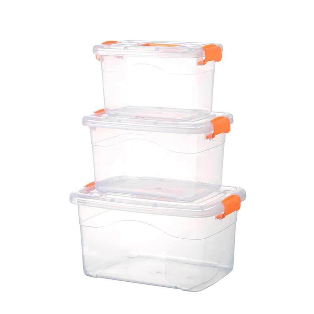 PXFX - Caja de Almacenamiento de plástico Transparente para ...