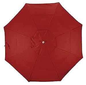 California Umbrella Replacement Canopy Cover in Red Olefin Umbrella, 11' Round