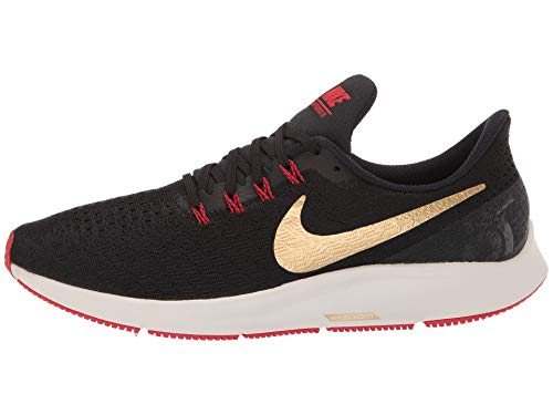 Nike Air Zoom Pegasus 35 Sz 6.5 Mens Running Black/Metallic Gold-University Red Shoes by Nike (Image #5)