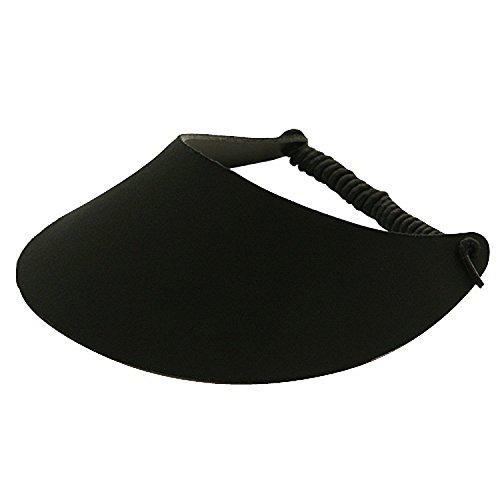 MG Women's Cotton Solid String Sun Visor Hat]()