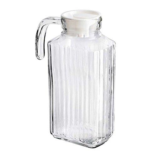 2 x 1,8 L jarra de cristal puerta de la nevera jarra con tapa ...