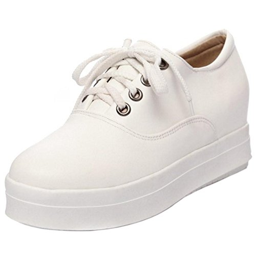 Pumps White KemeKiss Lace Up Women Fqwxt4U