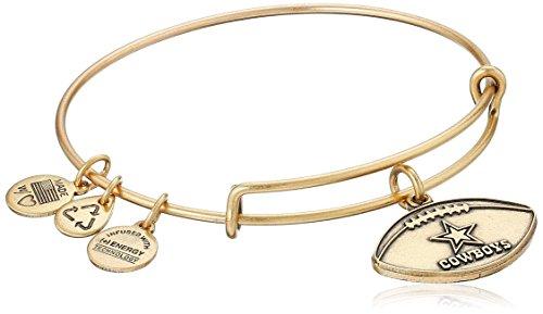 Alex and Ani Dallas Cowboys Football Expandable Rafaelian Gold Bangle Bracelet (Dallas Cowboys Clearance)