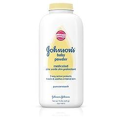 Johnson's Pure Cornstarch Baby Powder Medicated Zinc Oxide, 15 Oz (Pack Of 2)