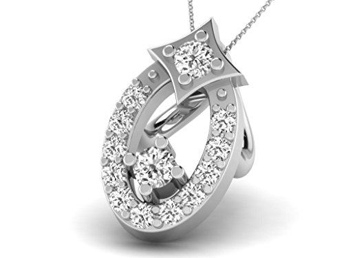 Or Blanc 18 ct Pendentifs Diamant , 0.05 Ct Diamant, GH-SI, 0.44 grammes.