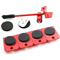 endosy Furniture Mover Tool Set Furniture Transport Lifter Heavy Stuffs Moving Tool 4 Wheeled Mover Roller and 1 Wheel…
