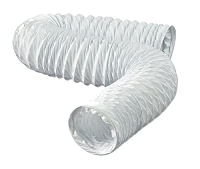 Dundas Jafine FD420ZW Flexible White Vinyl Duct, 4-Inches by 20-Feet