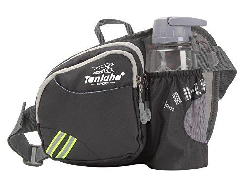 Unisex Waist Bag Pack Sports Travel Cycling Waist Purse Pink - 7