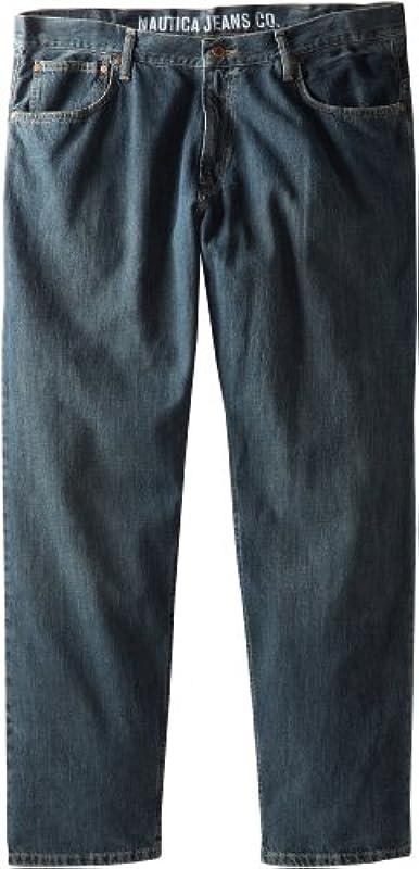 Nautica Big & Tall Relaxed Fit dżinsy męskie: Nautica: Odzież
