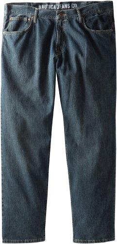 (Nautica Men's Big and Tall Big & Tall Relaxed Fit Jean Pant, Atlantic Medium 42W 38L)