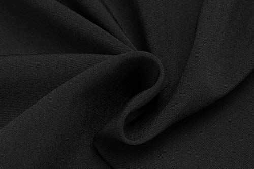 Vetement Printemps Confortable Basic Couleur Blouse Contraste Top Femme Affaires Mode Tops Longues lgant Blouse Casual Chemise Manches Schwarz Trous Rond Col Fqf5HxgW