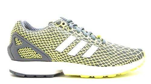 adidas for Men: ZX Flux Techfit Solar Yellow/Running White FTW/Onix Sneakers Syello Ftwwht Onix Jausol Ftwbla