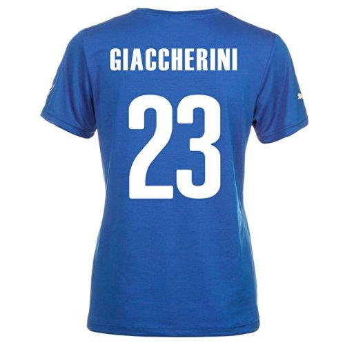 Puma GIACCHERINI #23 Italy Home Jersey World Cup 2014