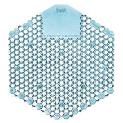 Fresh Products 3WDSF010I060M08 Wave 3D Urinal Deodorizer Screen, Blue, Ocean Mist Fragrance, 10 Screens/Box