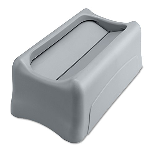- Rubbermaid Commercial 267360GY Swing Lid for Slim Jim Waste Container, Gray