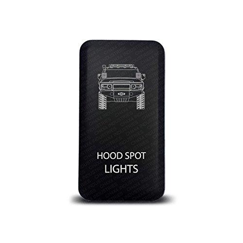 CH4x4 Push Switch for Toyota FJ Cruiser - Hood Spot Lights Symbol - Green Led (Symbol Switch)