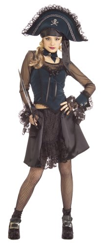Drama-licious Pirate Queen Young Adult (Teen) Halloween Costume Size 2-6 (Queen Costumes For Adults)