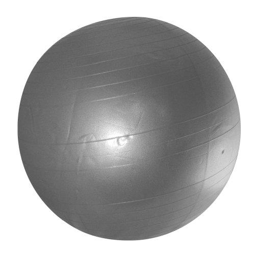 YogaDirect Anti Burst and Slow Leak Deluxe Yoga Ball, 75cm, Silver