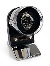 [NEW MODEL] Jebely Noble One Single Watch Winder - Dual Powered (Battery or AC Adapter)