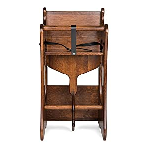 """School desk Combo for kids 3-in-1 High Chairs for toddlers, wooden rocking horse and writing desk for children Amish hand -made furniture Handcrafted in the USA Size:32"""" h x 15.75""""d x 18.25""""h"""