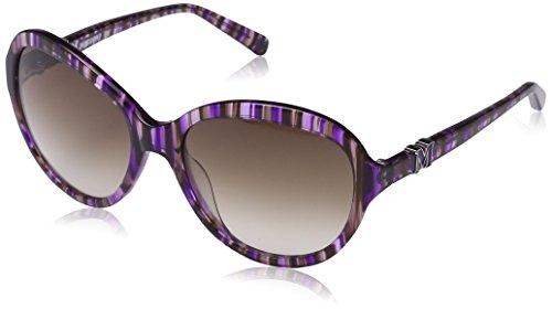 MMissoni - Lunette de soleil MM604S Ovale  - Femme Striped violet-brown frame/gradient brown lens