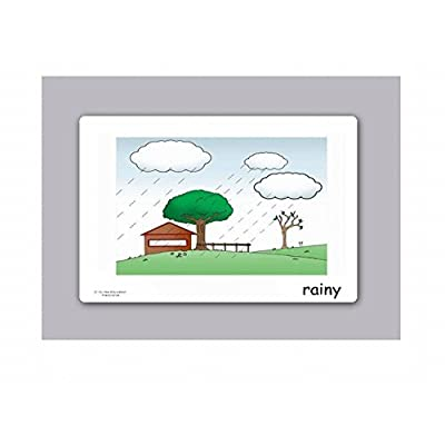 Yo-Yee Flashcards - Weather and Seasons Flash Cards - English Vocabulary Picture Cards for Toddlers 2-4 Years, Kids, Children and Adults: Toys & Games
