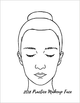 amazon 2018 practice makeup face female faces large notebook